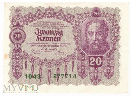 Duże zdjęcie Austria - 20 koron (1922)