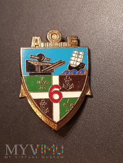 Odznaka 6-tego Pułku Artylerii Morskiej - Francja