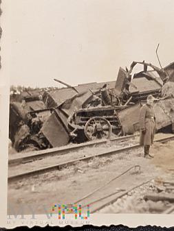 Duże zdjęcie Niemcy - Fotografie z albumu - Wysadzony Pociąg