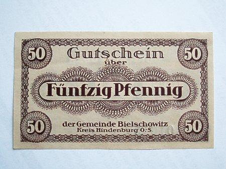 Bielszowice- Pieniądz zastępczy 50 Pf