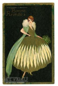 Duże zdjęcie Corbella Nowy Rok Bonne année SYLWESTER Art Deco