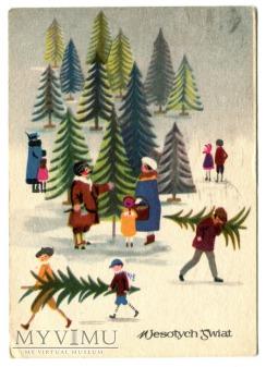1963 Leonia Janecka Boże Narodzenie Święta