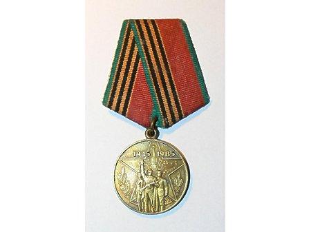 Duże zdjęcie Medal w 40 rocznicę zakończenia wojny ojczyźnianej