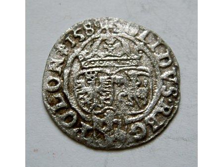 Szeląg mennica Olkusz- 1589 r-piękny