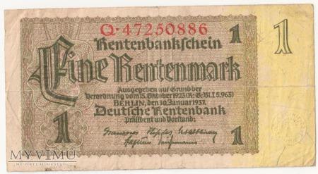 1 Rentenmark 1937 rok