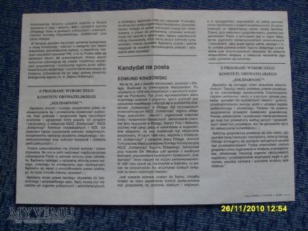 "Ulotki ""Solidarności"" (2 szt.) -1989r."