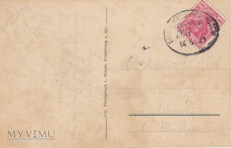 Pocztówka Friedeberg a. Queis Jsergebirge (Mirsk)