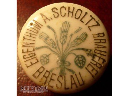 Eigenthum A.Scholz Brauerei Breslau -Wrocław
