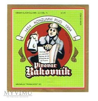 pivovar rakovník konzumní pivo 1454-1994