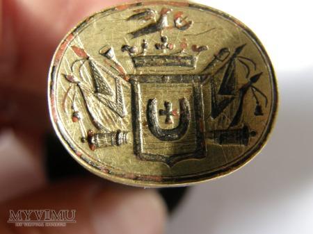 Duże zdjęcie Herb Jastrzębiec-pieczęć herbowa do laku