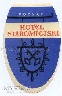 Duże zdjęcie Nalepka hotelowa - Poznań - Hotel Staromiejski