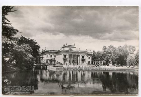 Warszawa - Łazienki - Pałac od frontu - 1965
