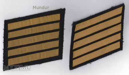 Dystynkcje do munduru wyjściowego MW -st.bosmanmat