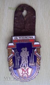 Odznaka: ZA WZOROWĄ SŁUŻBĘ w MO; złota