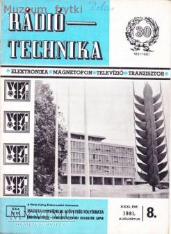 Duże zdjęcie RADIO TECHNIKA 1981r. nr.8