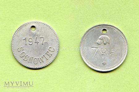 Duże zdjęcie Psi numerek - Sosnowiec - 1947