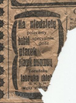 "Duże zdjęcie 03 ""Gazeta Toruńska - Codzienna"" lipiec 1914"