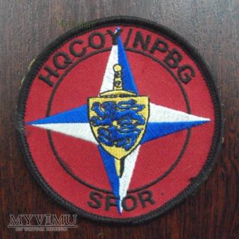 Oznaka misyjna Sił Stabilizacyjnych SFOR HQ COY