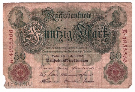 Niemcy, 50 marek 1910r. Ser.A