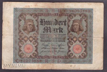 Niemcy, 100 marek 1920r. Ser.C