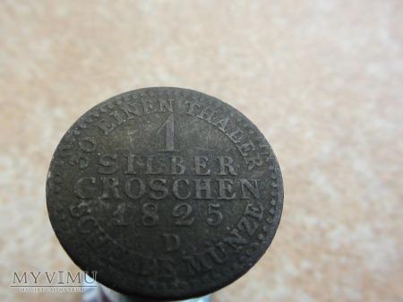 1 silber groschen 1825 D