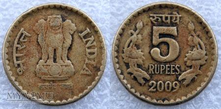 Indie, 5 Rupii 2009