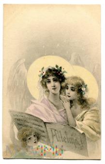 c.1900 - 1905 Anioły Alleluja Wielkanoc