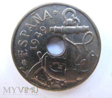 50 centymów 1949 r. Hiszpania