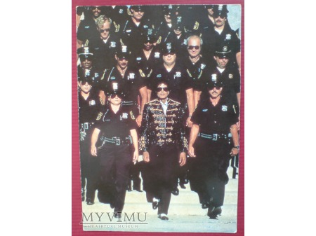 Michael Jackson Król Pop-u Pocztówka 1987