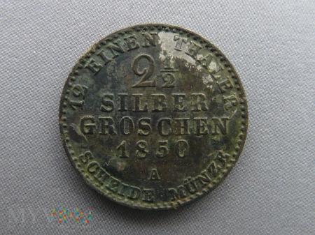 2 1/2 silber groschen dwa i pół srebrnego grosza