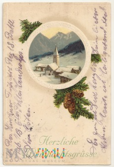 Duże zdjęcie Życzenia świąteczne-25 .12.1915.a