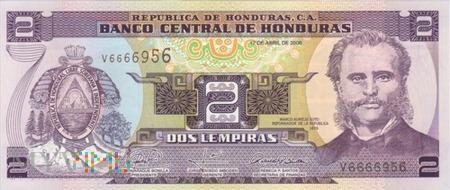 HONDURAS 2 LEMPIRAS 2008