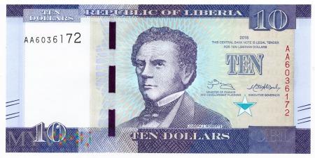 Liberia - 10 dolarów (2016)