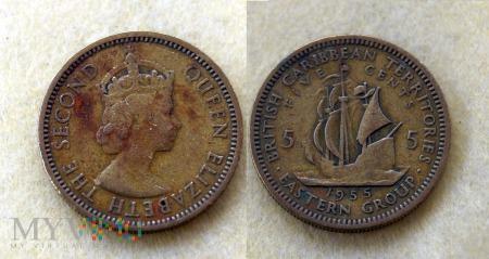 Karaiby, 5 centów 1955