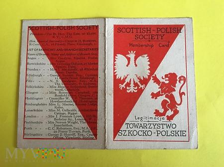 Legitymacja Towarzystwo Szkocko-Polskie z 1943