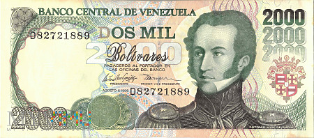Wenezuela - 2 000 boliwarów (1998)