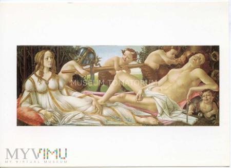 Botticelli - Z faunem w tle - Venus i Mars