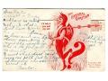 1908 Diabeł - pocztówka mechaniczna