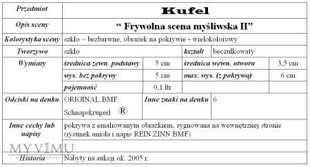 """Kufel """"Frywolna scena myśliwska - miniatura"""""""
