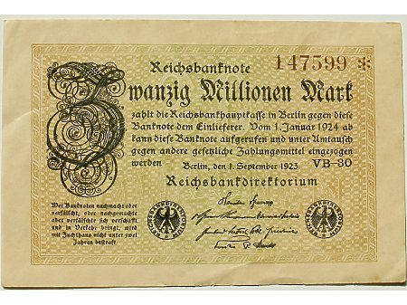 Niemcy- 20 000 000 marek 1923