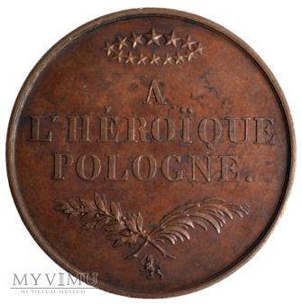 """medal """"Bohaterskiej Polsce"""" Barre 1832"""