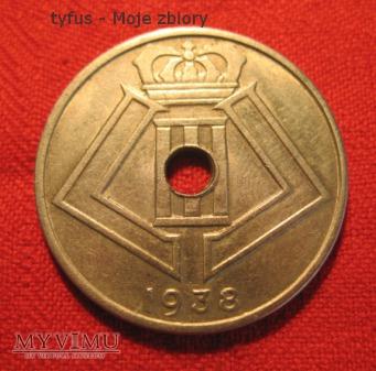 25 CENTIMES - Belgia (1938)