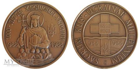 Millenium Chrztu Rusi-Ukrainy medal brązowy 1988