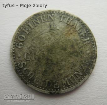 60 EINEN THALER - 1/2 SILBER GROSCHEN (1837)