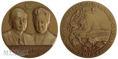 Wizyta Hirohito & Nagako w USA medal 1975