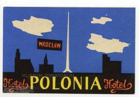 Duże zdjęcie Nalepka hotelowa - Wrocław - Hotel Polonia