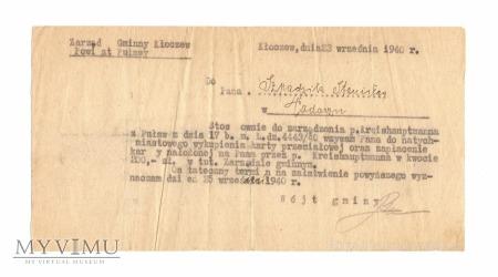Nałożenie kary, 23 września 1940 r.