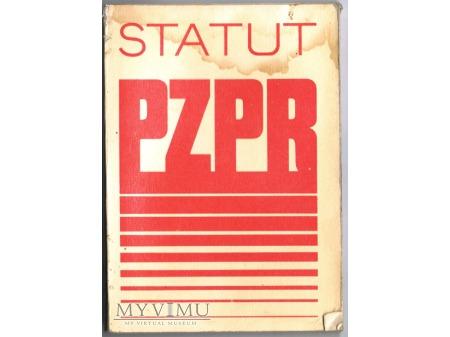 Statut PZPR.