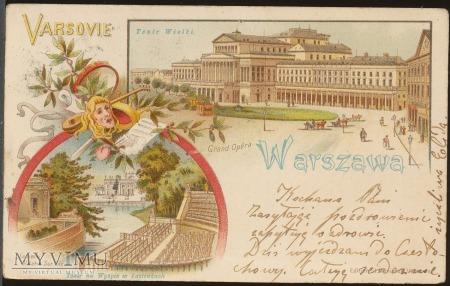 1900 WARSZAWA litogr. Teatr Wielki Grand Opera