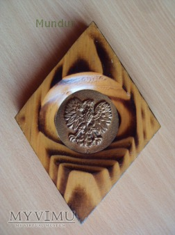 Medal pamiątkowy PRL w drewnianej oprawie